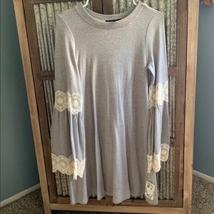 NWT Lace Bell Sleeve Dress
